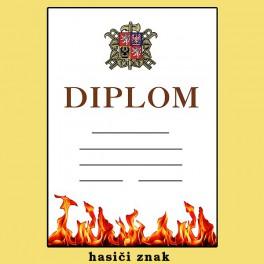 Diplom hasiči znak
